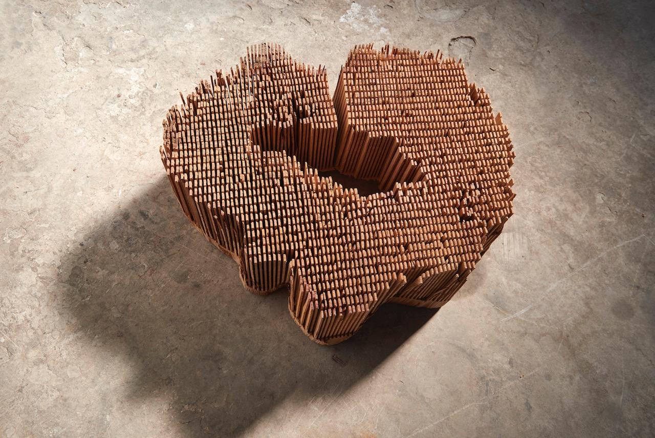 05_Herbert Golser, Untitled, 2014, pear wood, 64x21x55cm